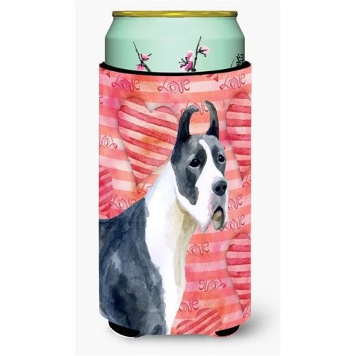 Carolines Treasures BB9730TBC Harlequin Great Dane Love Tall Boy Beverage Insulator Hugger