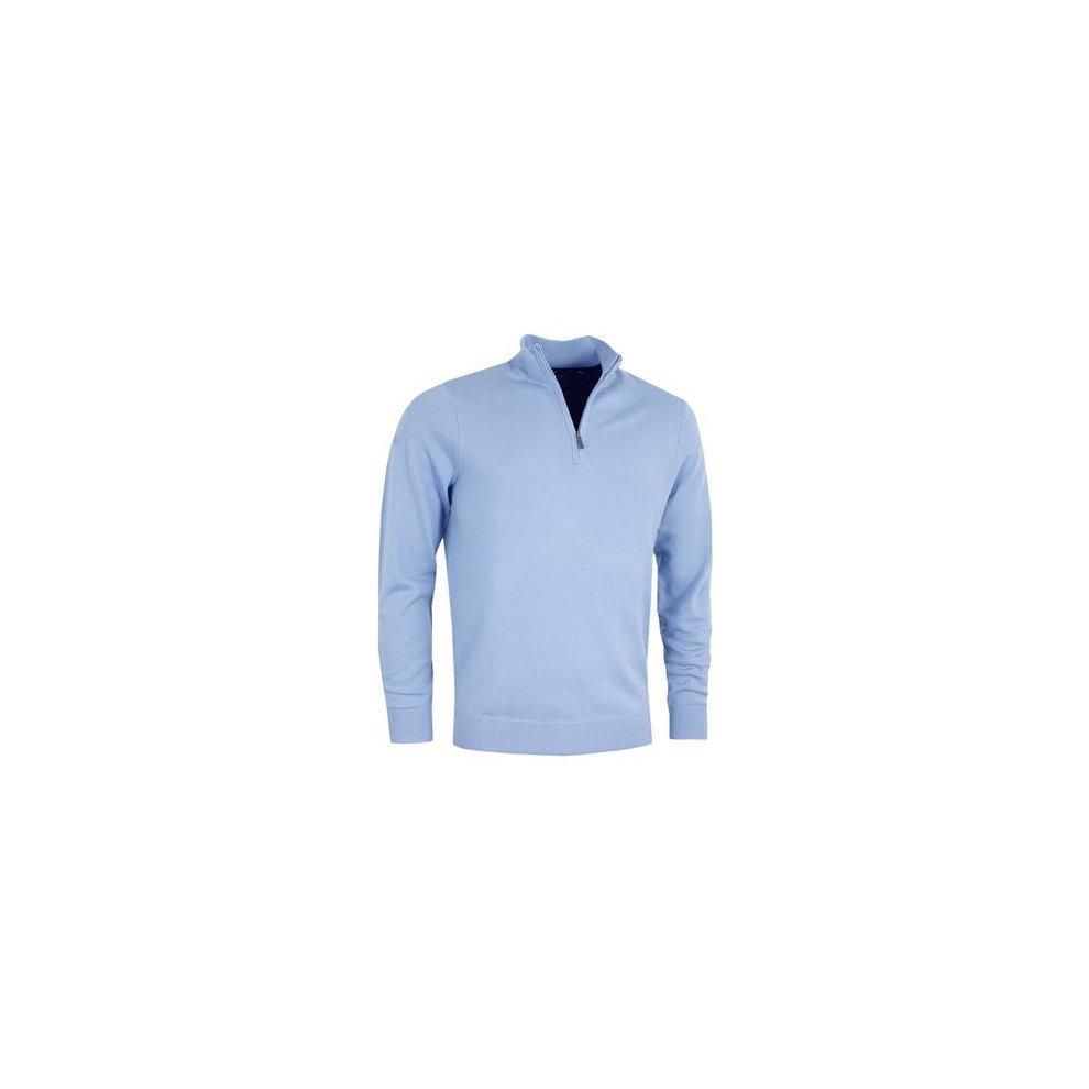 Callaway Golf Mens 2018 Ribbed 14 Zip Merino Sweater Chambray S