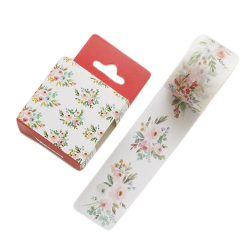 1.2 Inch Wide Washi Flower Decorative Paper Tapes for Arts and DIY Crafts, A