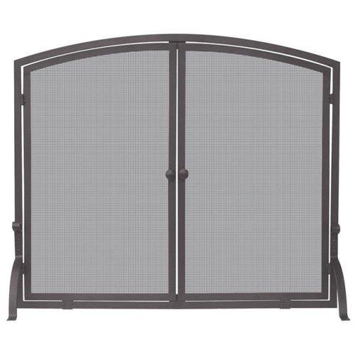 Uniflame S-1632 Single Panel Bronze Finish Screen with Doors