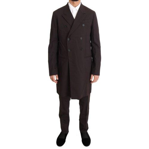 Dolce & Gabbana Bordeaux Wool Stretch Long 3 Piece Suit