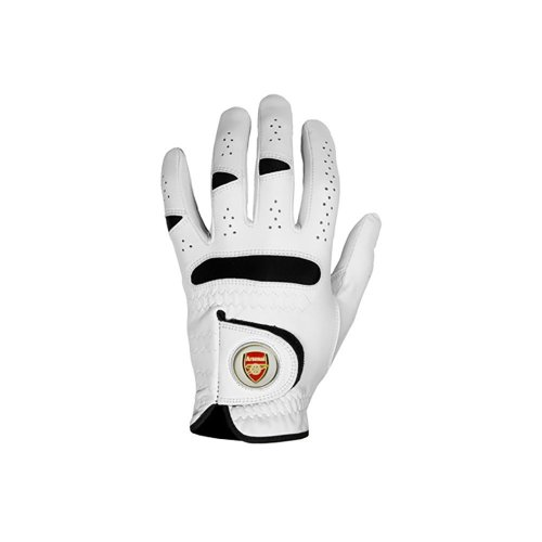 Arsenal FC Men's Semi-Synthetic Golf Gloves - White, X-Large