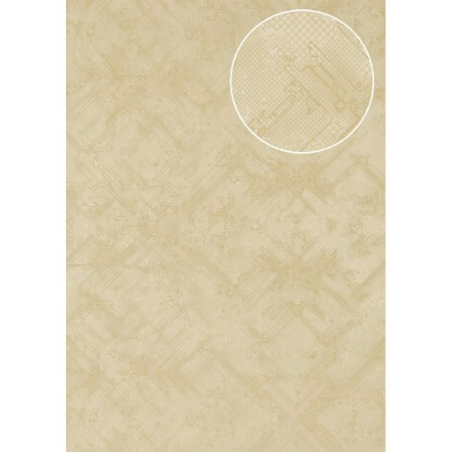 Atlas SIG-580-2 Graphic wallpaper shimmering oyster-white ivory 5.33 sqm