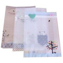10 PCS Clear Plastic Tree Prints Book Cover(26.5*19CM) For Office Or School