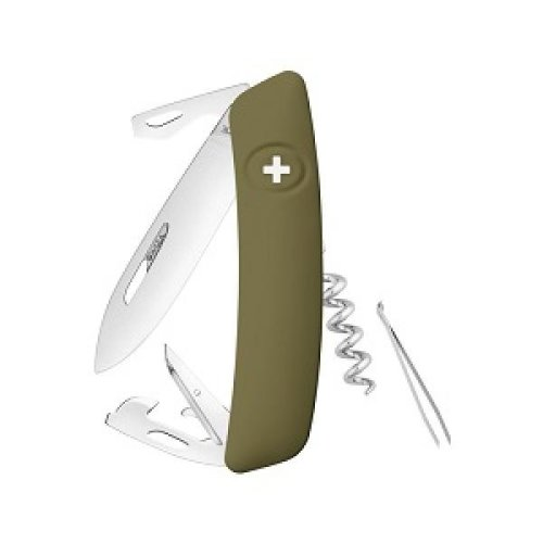 Swiza D03 Swiss Pocket Knife Multi-Tool Silver Blade - Olive