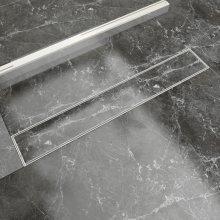 vidaXL Linear Shower Drain 730x140 mm Stainless Steel