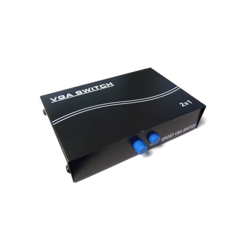 TRIXES VGA SVGA LCD TFT CRT Monitor 2 Port Way Splitter Switch Box Black