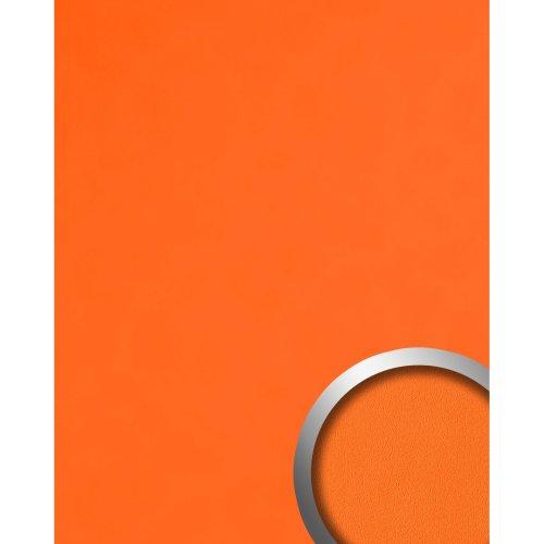 WallFace 20424 Antigrav PUMPKIN ORANGE Wall panel nappa leather look orange