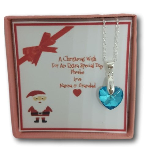 Personalised Christmas Girls Necklace Gift Present