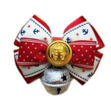 England Style Pet Collar Tie Adjustable Bowknot Cat Dog Collars with Bell-C13