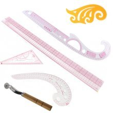 Set 5 Style Tailor Clear Sewing Ruler Comma Line Grading French Curve Measure Sewing Accessories