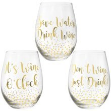 The Leonardo Collection Gold Edition Stemless Wine Glass