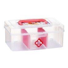 Set of 2Useful Children Medicine Chest Cute Mini First Aid Case White&Red 3.5''