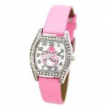 Hello Kitty Kids Coat Of Arms Pink Strap Watch 24681 -