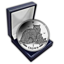 Isle of Man 2015 Selkirk Rex Cat Unc. CuNi Coin in a box
