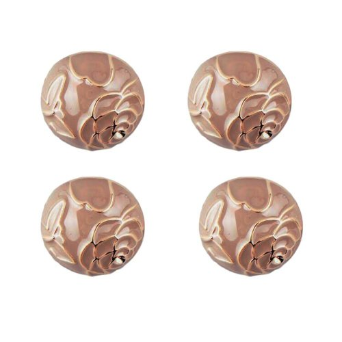12 Pieces Women Peony Metal Button Fashion Coat Buttons Decorative Button  (23mm)