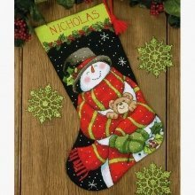 D71-09151 - Dimensions Needlepoint Kit - Stocking: Snowman and Bear