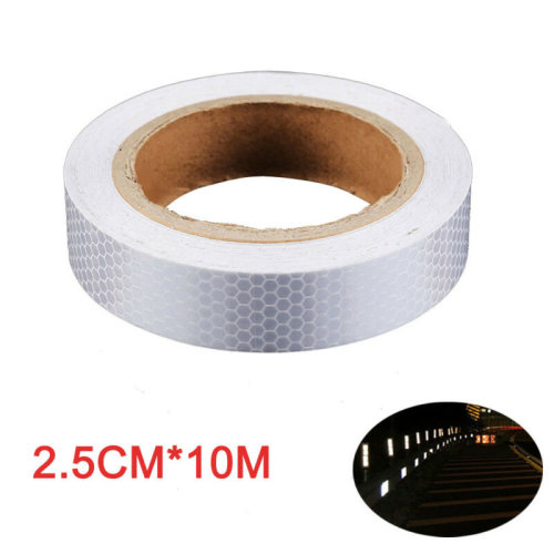 Self-Adhesive Reflective Safety Warning Silver Tape Vehicle Indicator 2.5cmx10m
