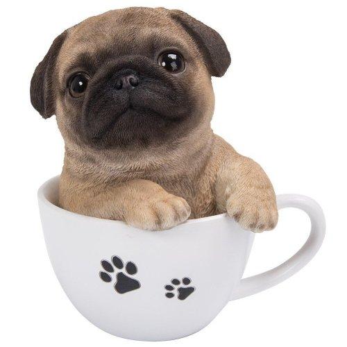 Vivid Arts TP-PUGG-F Pug Puppy in Tea Cup