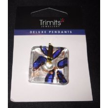 Trimits Glass Pendant - Silver / Blue Square