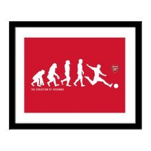 Personalised Arsenal FC Evolution Print