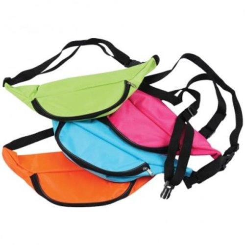 US Toy MX481X3 Neon Fanny Packs - 12 Per Pack - Pack of 3