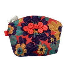 Set of 2 Traditonal Chinese Embroidered Jewelry Coin Pouch Bag Wallet Purses