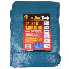 24' x 18' Tarpaulin - Blue -  tarpaulin waterproof ground sheet heavy duty cover camping amtech x strong 24 18ft blue