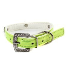 Adjustable Rhinestone Studded Color Collar for Dogs (Size:W1.4cm, L37cm)