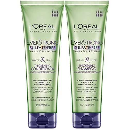 LOreal Paris EverStrong Thickening, DUO set Shampoo + Conditioner, 8.5 Ounce, 1 each