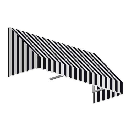 Awntech EF1836-US-4KW 4.38 ft. San Francisco Window & Entry Awning, Black & White - 18 x 36 in.