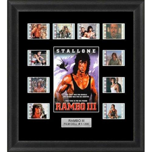 Rambo 3 Framed 35mm Film Cell Memorabilia