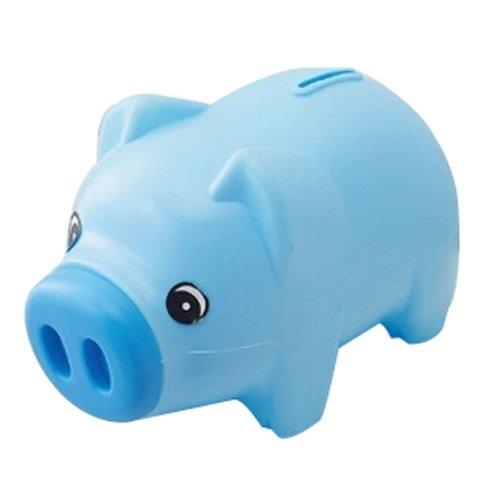Plastic Piggy Bank Cartoon Uique Bby Gfts Adult/Children Pig Blue
