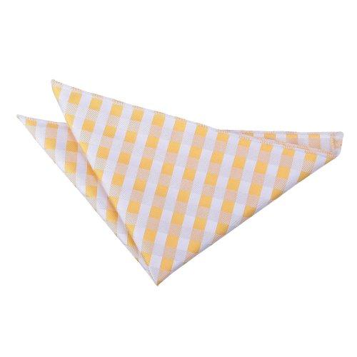 Sunflower Gold Gingham Check  Pocket Square