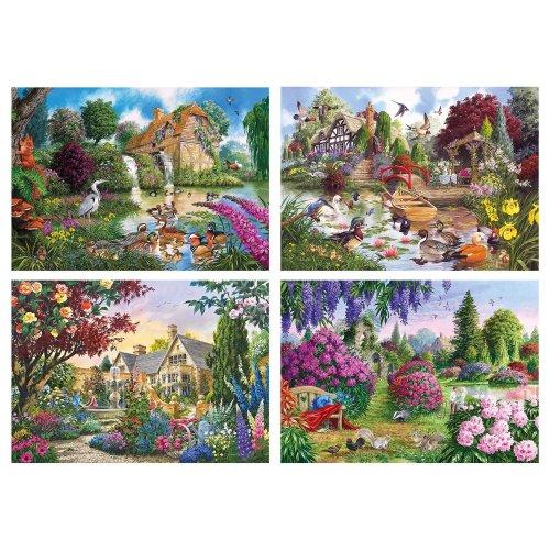 Gibsons Flora & Fauna Jigsaw Puzzles (4 X 500 Pieces)