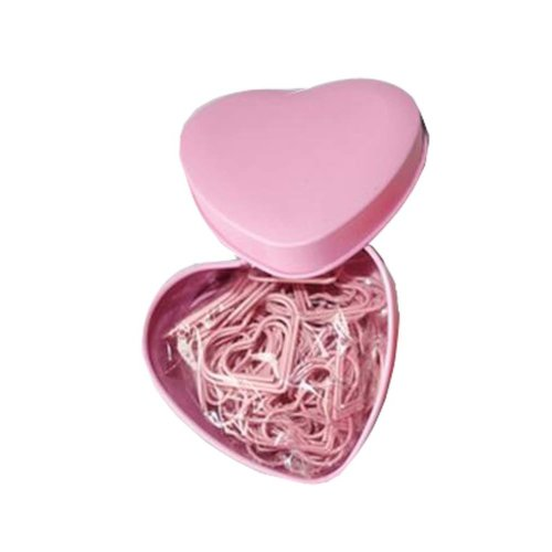 Set Of 52 Box-packed Design of Love's Paper Clip/Pushpin, Pink