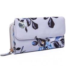 Miss Lulu Purse Wallet Flower Oilcloth Clutch Bag