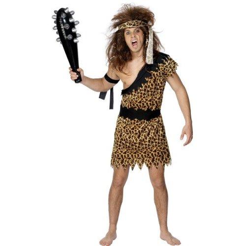 Smiffy's Adult Men's Caveman Costume, Tunic, Headband And Armband, Caveman, -