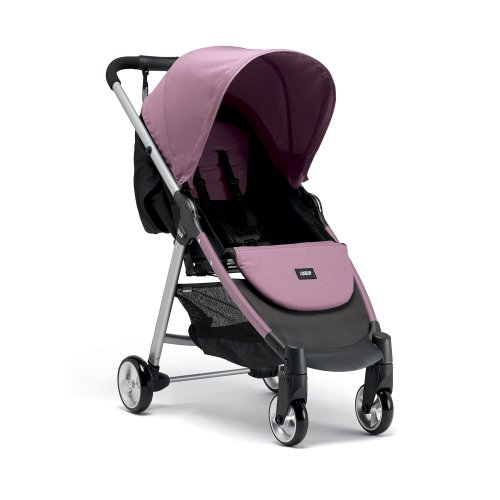 Mamas & Papas Armadillo City² Slim Folding Pushchair, Compact and Lightweight Travel System, Spacious from Birth - Rose Pink