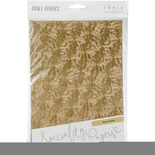 Craft Perfect Handcrafted Cotton Papers A4 5/Pkg-Warm Dahlia