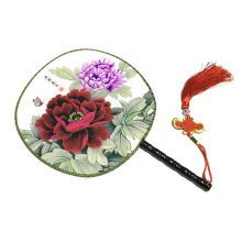 Attractive Chinese Round Fan Classical Dancing Dan With Beautiful Pattern, #4