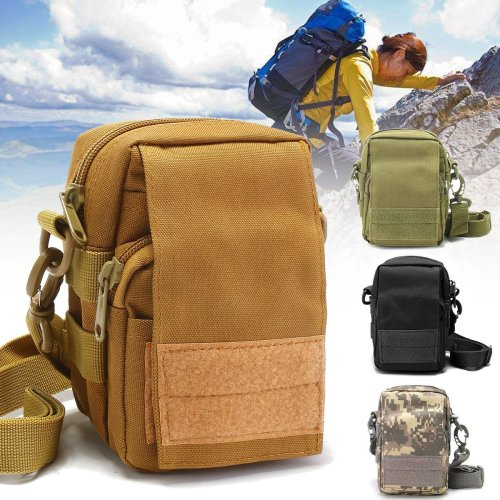 Outdoor Tactical Molle Pouch EDC Utility Sports Waist Bag Cell Phone Holder Case