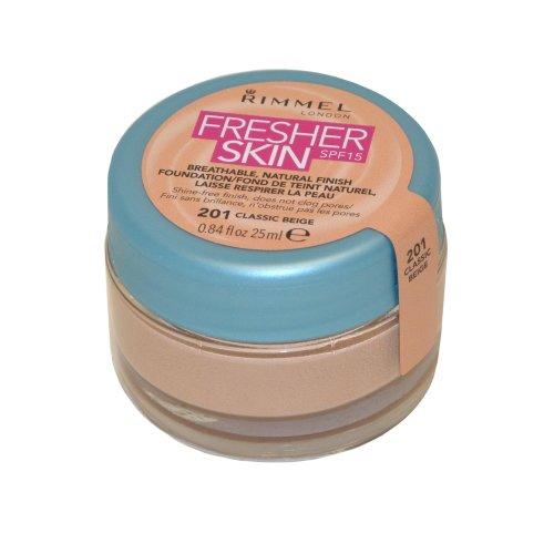 Rimmel London Rimmel Fresher Skin Foundation Natural Finish 25ml Classic Beige SPF15 (#201)