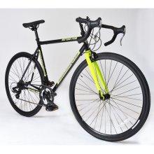 MUDDYFOX 700c Road BIKE - Roadster Bicycle in YELLOW & BLACK (14 Shimano Gears)