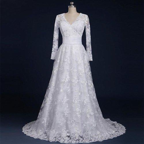 New Arrival Long sleeve Wedding Dresses Wedding Custom-Made Bridal Gown Plus Size Vestido De Noiva