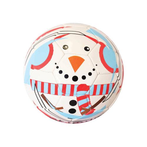 Optimum Christmas Snowman Mini Festive Football Soccer Ball White