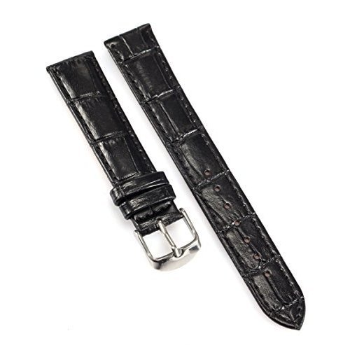 AMPM24 18mm Watch Band Black PU Strap Belt
