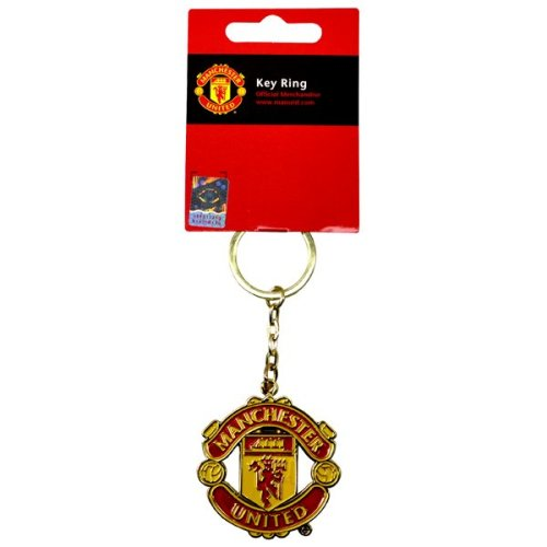 Manchester United Crest Keyring - Football Official Club Car Utd Mufc Free Uk -  manchester united football crest keyring official club car utd mufc
