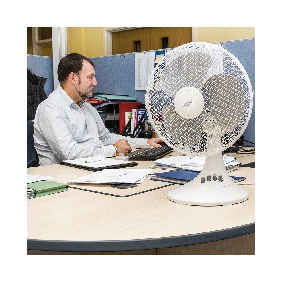 Draper 12 Inch Desk Fan On Onbuy