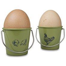 Eddingtons Vintage Hen And Rooster Egg Cups, Set Of 4, Sage - Cups 4 Bucket Hens -  egg eddingtons rooster sage set cups 4 hen bucket vintage hens